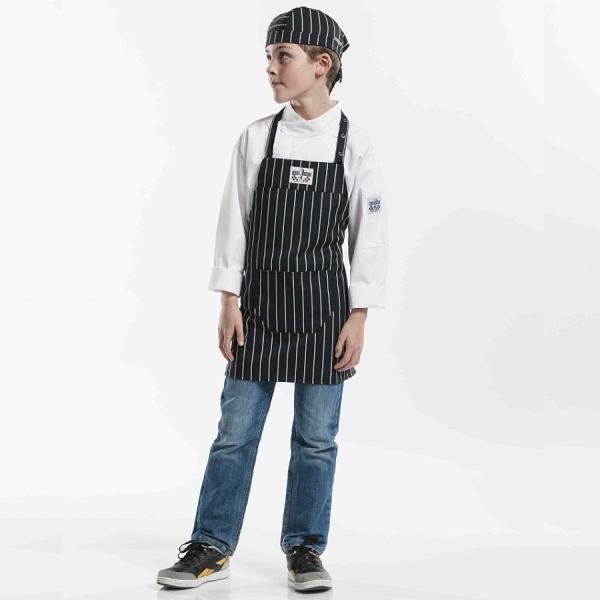 528 Chaud Devant® Latzschürze Kids Big Stripe
