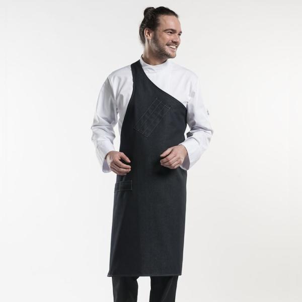 682 Chaud Devant® Latzschürze Butcher Black Denim