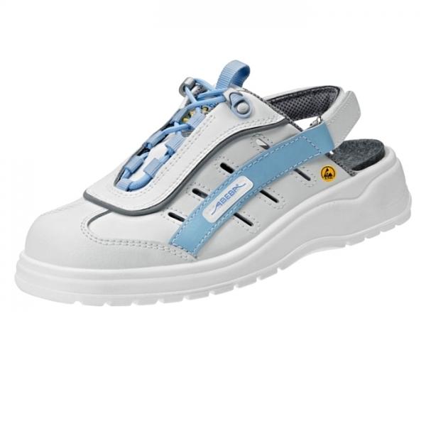 Abeba® ESD Clog 31163 OB weiss/blau