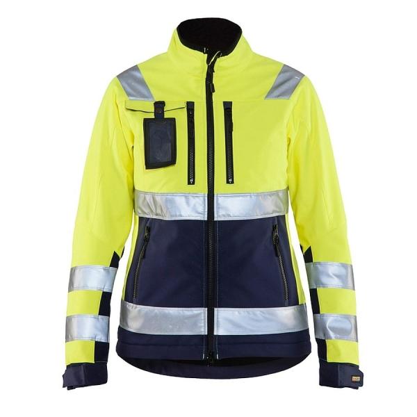 4902 Blakläder® Damen Softshell Jacke Warnschutz