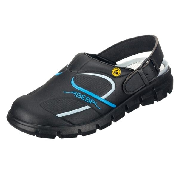Abeba® Dynamic Clog ESD 37331 OB schwarz/blau