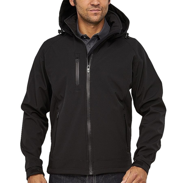 MS25001 Macseis® Safari Softshell Jacke schwarz