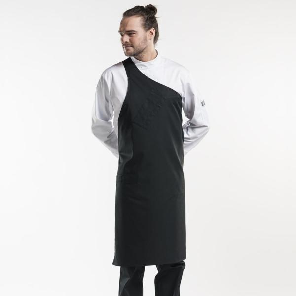 697 Chaud Devant® Latzschürze Butcher Black