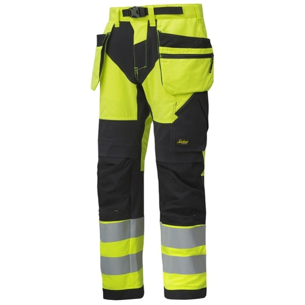 6932 Snickers FlexiWork High-Vis Bundhose