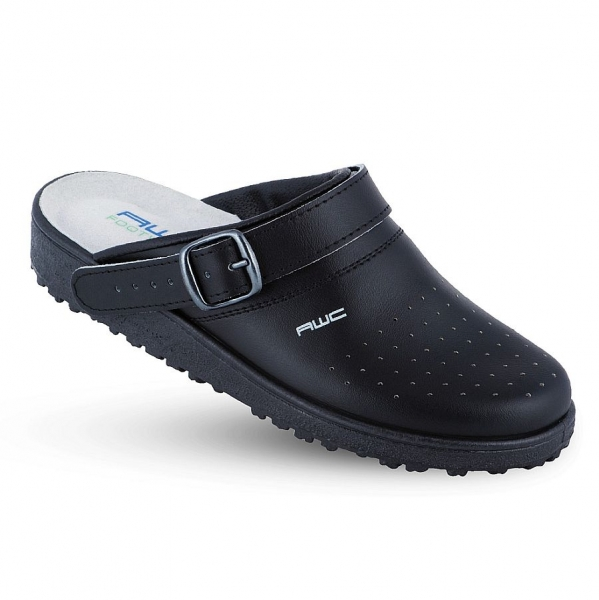 17001 AWC Classic Sandale schwarz perforiert