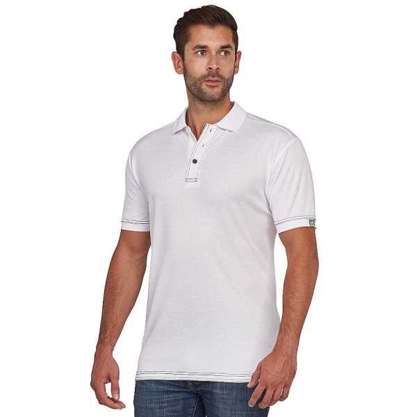 MWW400015 Macseis® Signature Poloshirt white/grey