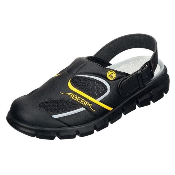 Abeba® Dynamic ESD Clog 37343 OB schwarz/gelb