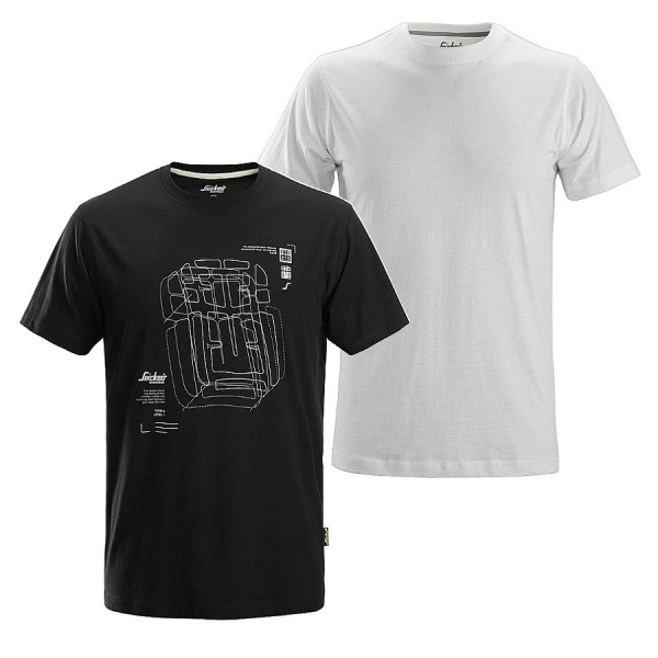 2522 Snickers T-Shirt Baumwolle 2er Pack