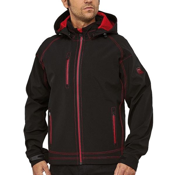 MS300007 Macseis® Twotone Softshell Jacke schwarz