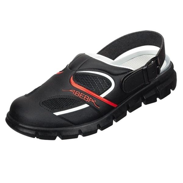 Abeba® Dynamic Clog 7342 OB schwarz/rot