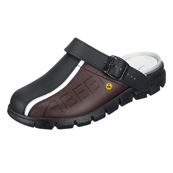 Abeba® Dynamic Clog ESD 37315 OB schwarz/braun