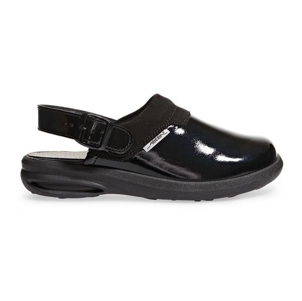Abeba® easy Clog 7621 OB schwarz glänzend