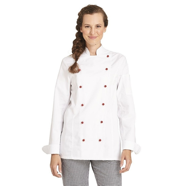 08/572 Leiber Damen Kochjacke 100% Baumwolle