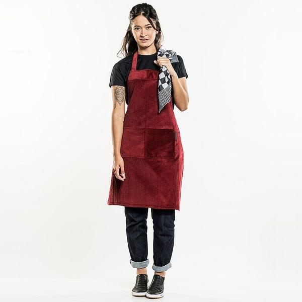 517 Chaud Devant® Latzschürze Red Velvet