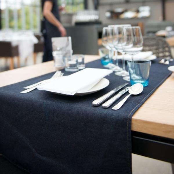 807 Chaud Devant® Tischläufer Blue Denim