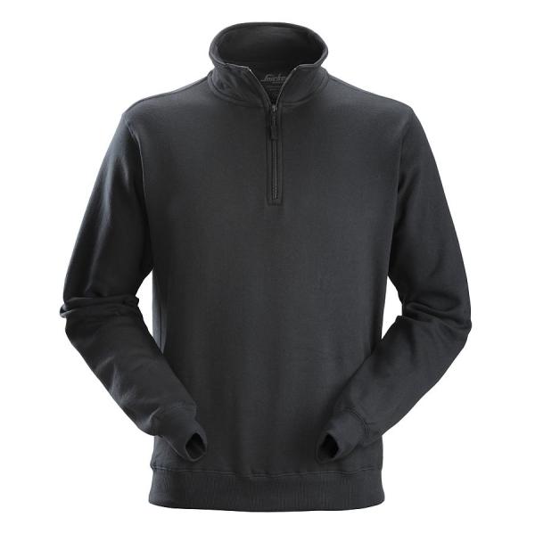 2818 Snickers Sweatshirt mit kurzem Reißverschluss
