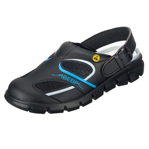 Abeba® Dynamic Clog ESD 37341 OB schwarz/blau