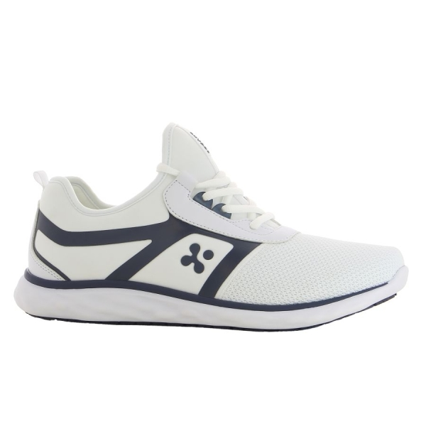 OXYPAS Sneaker Luca weiss/dunkelblau EN 20347 SRC