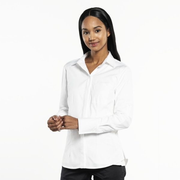 603 Chaud Devant® Service Bluse UFX White