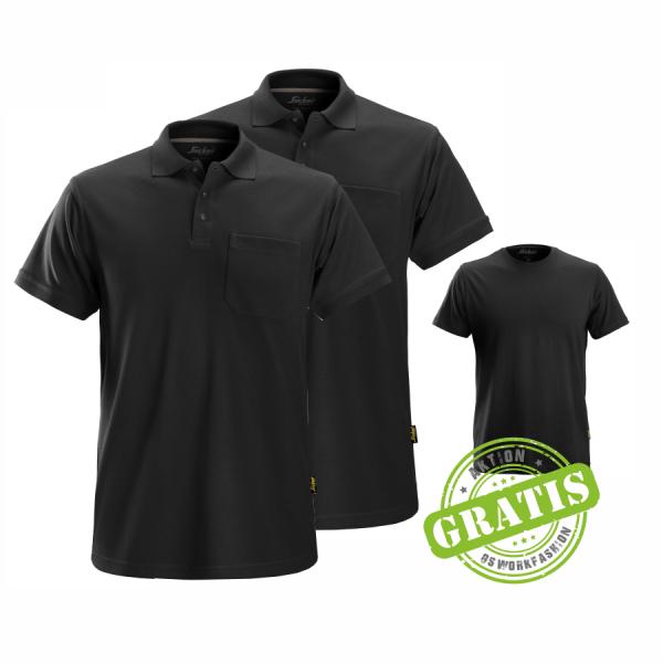 2708 Poloshirt 2er Pack inkl. *GRATIS* T-Shirt