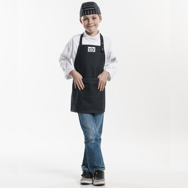677 Chaud Devant® Latzschürze Kids Black Denim