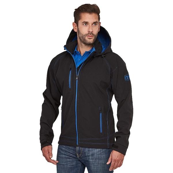MS300013 Macseis® Twotone Softshell Jacke schwarz