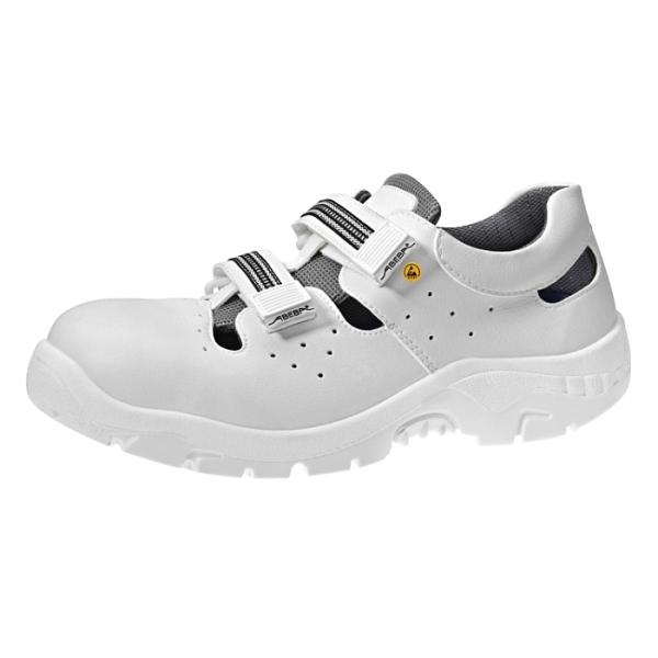 Abeba® ESD Sicherheits-Sandale 2616 S1 weiss