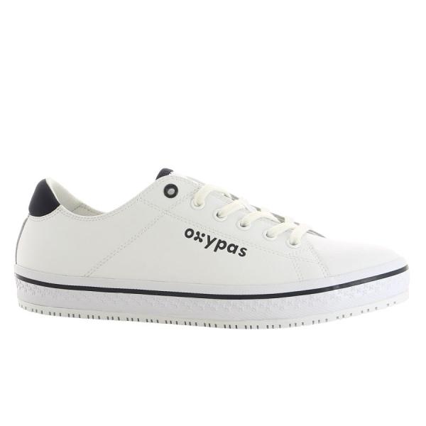 OXYPAS Sneaker Clark weiß/blau EN 20347 SRC ESD