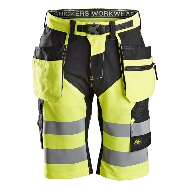 6933 Snickers FlexiWork High-Vis Shorts