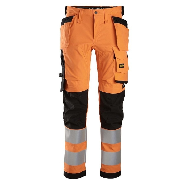 6243 Snickers AllroundWork Stretch Bundhose Hi-Vis