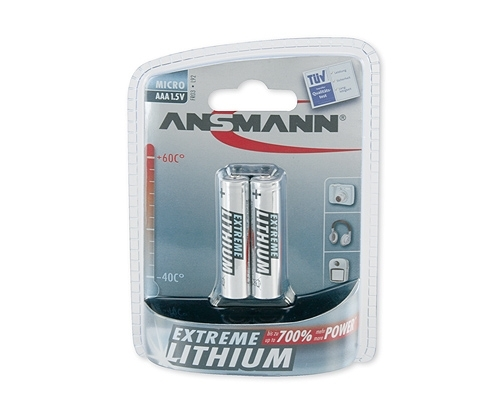 MICRO AAA Batterie Lithium-Extreme 2er-Blister