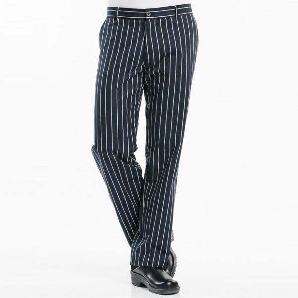 160 Chaud Devant® Kochhose Big Stripe schwarz/weiß