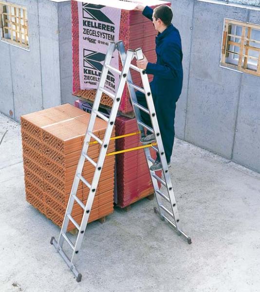 Z200 Zarges Sprossen-Stehleiter beids. begehbar