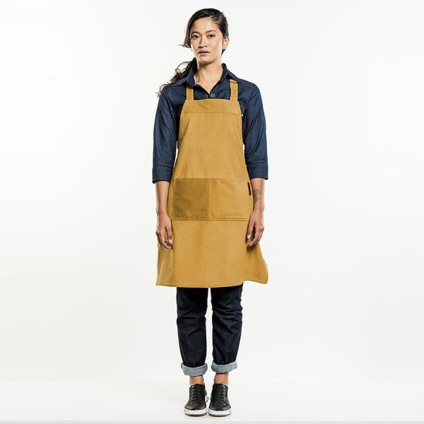 519 Chaud Devant® Latzschürze Yellow Velvet