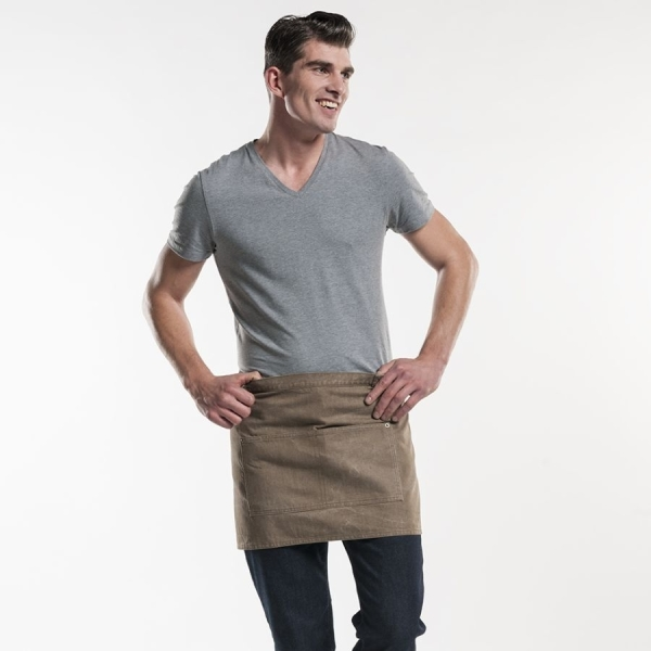 422 Chaud Devant® Bistroschürze Base Mud Denim